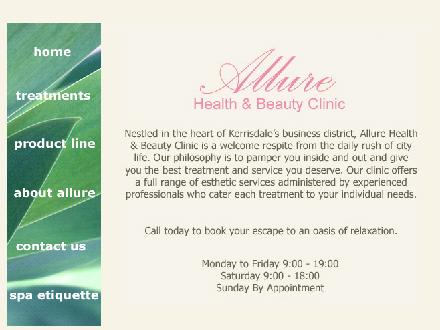 Allure Health &amp; Beauty Clinic (778-371-8161) - Onglet de site Web - http://www.allurehealthandbeauty.com
