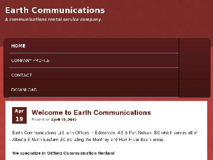 Earth Communications (250-774-4111) - Website thumbnail - http://www.earth-communications.com