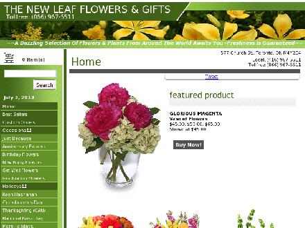 The New Leaf Florist (416-967-5511) - Onglet de site Web - http://www.thenewleaftoronto.com