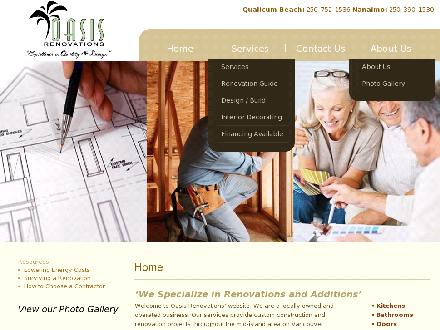 Oasis Renovations (250-390-1530) - Onglet de site Web - http://www.oasisrenovations.ca