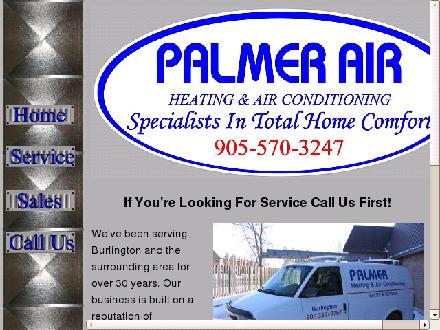 Palmer Heating &amp; Air Conditioning (289-975-4255) - Onglet de site Web - http://www.palmerheating.ca