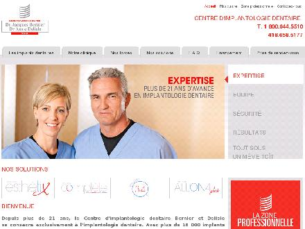 Centre d'Implantologie Dentaire Dr Jacques Bernier (418-658-5177) - Onglet de site Web - http://www.implantquebec.com