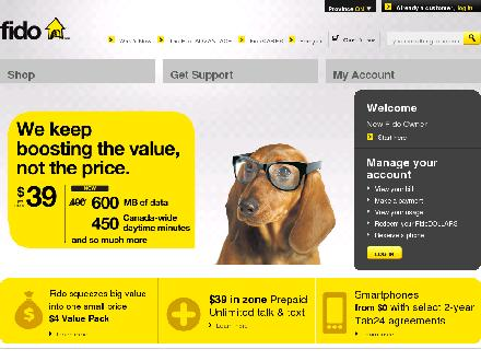 Fido.ca - Website thumbnail - http://www.fido.ca