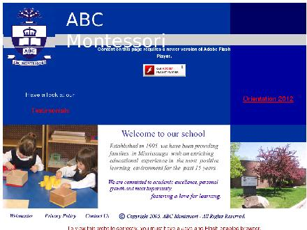 A B C Montessori Private School (905-568-8989) - Website thumbnail - http://www.abcmontessori.com