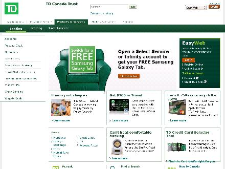 Tdcanadatrust.com - Onglet de site Web - http://www.tdcanadatrust.com