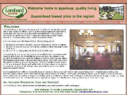 Lombard Manor (613-283-9759) - Website thumbnail - http://www.lombardmanor.com