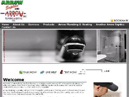 Arrow Plumbing & Heating (780-835-2234) - Website thumbnail - http://www.arrowplumbingandheating.ca