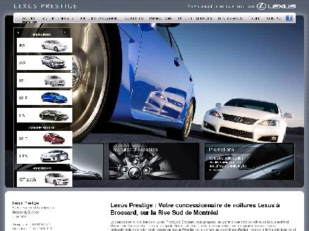 Lexus Prestige (450-923-7777) - Onglet de site Web - http://www.prestige.lexus.ca