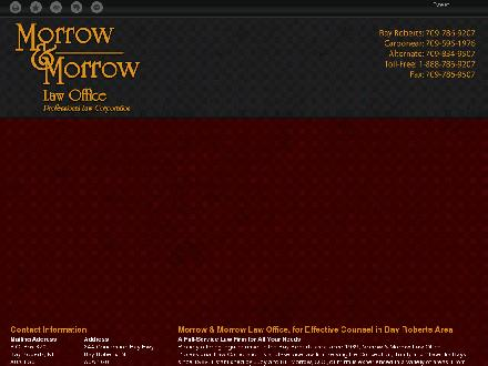Morrow & Morrow Law Office (1-866-236-9271) - Onglet de site Web - http://morrow-law.ca/