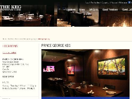 The Keg Steakhouse & Bar (250-563-1768) - Onglet de site Web - http://www.kegsteakhouse.com/en/locations/BC/prince-george/prince-george-keg/