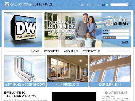 Dominion Window & Door Ltd (204-809-0369) - Onglet de site Web - http://www.dominionwindow.com