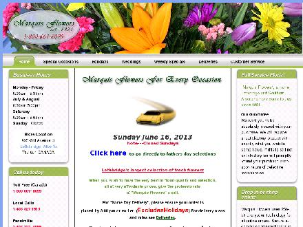 Marquis Flower Shop (403-327-1515) - Website thumbnail - http://www.marquisflowers.com