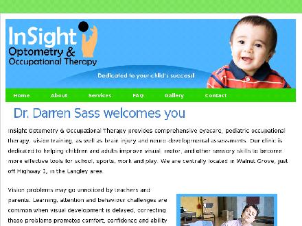 InSight Optometry (604-455-0477) - Onglet de site Web - http://www.insightlearning.ca