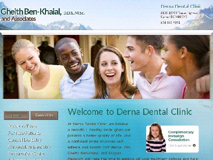 Gheith Ben-Khaial and Associates (778-578-4013) - Onglet de site Web - http://www.dernadental.ca