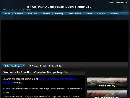 Brantford Chrysler Dodge Jeep (519-759-6000) - Onglet de site Web - http://www.brantfordchrysler.com