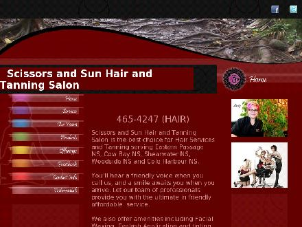 Scissors &amp; Sun (902-465-4247) - Onglet de site Web - http://www.scissorsandsun.ca