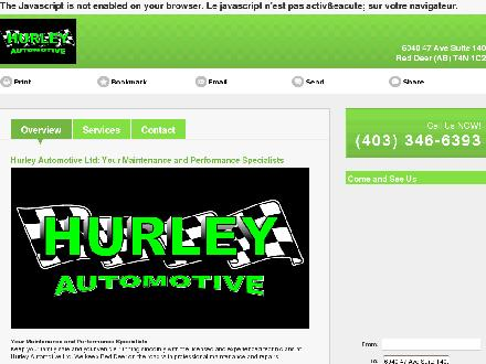 Hurley Automotive Ltd (403-346-6393) - Onglet de site Web - http://hurleyautomotive.com/