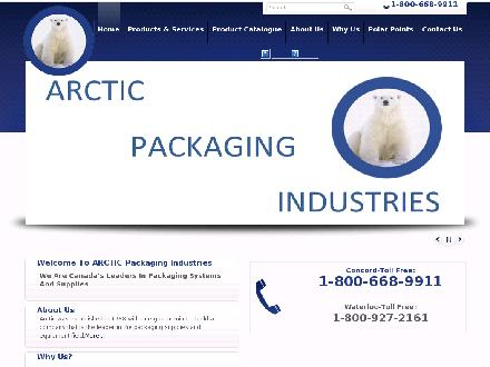 Arctic Packaging Industries Inc (905-660-9911) - Onglet de site Web - http://www.arcticpackaging.com