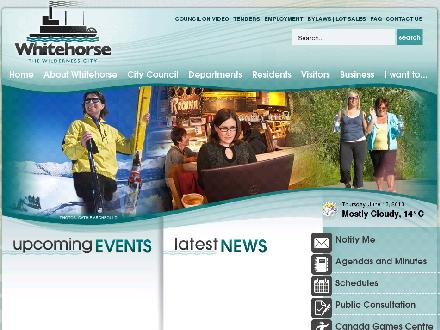 WHITEHORSE, CITY OF (867-668-8362) - Website thumbnail - http://www.whitehorse.ca