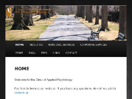 Clinique De Psychologie Appliquée (506-858-9180) - Website thumbnail - http://www.cpamoncton.ca