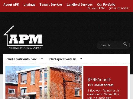 Affordable Property Management (613-842-8100) - Onglet de site Web - http://www.apmottawa.net