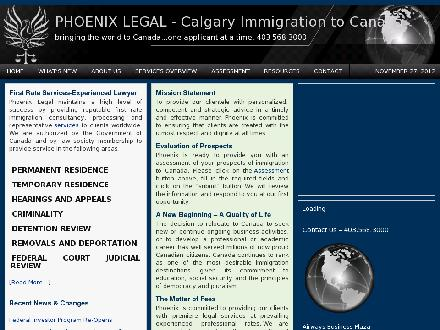 Phoenix Immigration & Legal Services Inc (403-766-9331) - Onglet de site Web - http://www.canaimmigration.com