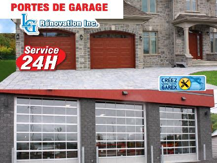 Portes De Garage L-G R&eacute;novation Inc. (819-376-7527) - Onglet de site Web - http://www.porteslgrenovation.com/