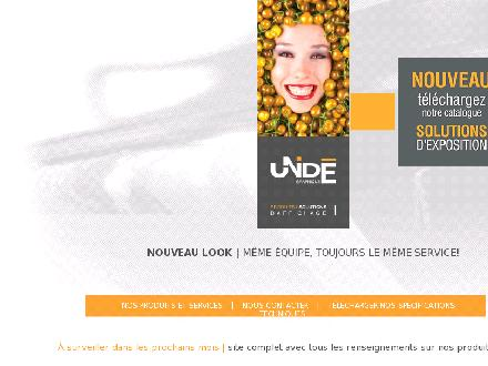 Unidé Graphique (514-493-6600) - Website thumbnail - http://www.unide.ca