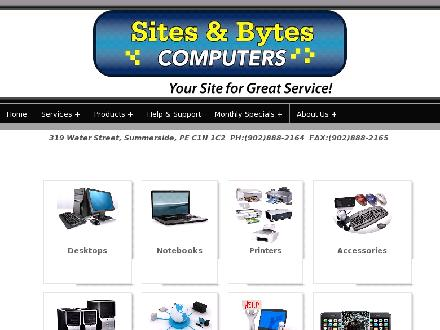 Sites & Bytes Computers (902-888-2164) - Onglet de site Web - http://www.sitesandbytes.ca
