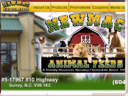 Newmac Animal Feeds (604-576-2848) - Website thumbnail - http://www.newmacanimalfeed.com