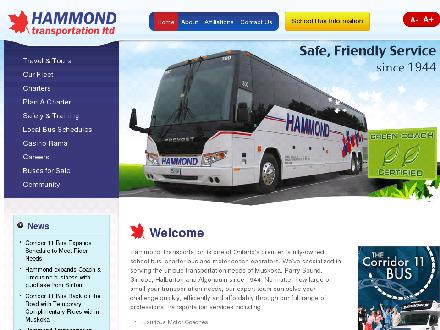 Hammond Transportation Ltd (705-645-5431) - Onglet de site Web - http://hammondtransportation.com