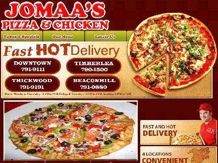 Jomaa's Pizza (780-792-0983) - Website thumbnail - http://www.jomaaspizza.ca