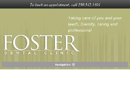 Foster Dental Clinic (250-541-3112) - Website thumbnail - http://www.fosterdental.ca