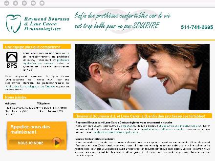 Bourassa Raymond & Caron Lyne Denturologistes (514-744-6695) - Website thumbnail - http://denturologistestlaurent.com
