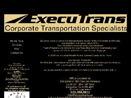 ExecuTrans Corporate Transportation Specialistes (613-384-8412) - Website thumbnail - http://www.executrans.ca