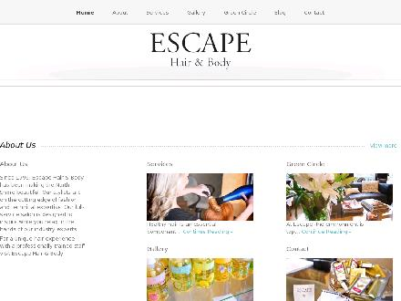 Escape Hair & Body (604-985-2282) - Onglet de site Web - http://www.escapehairandbody.com