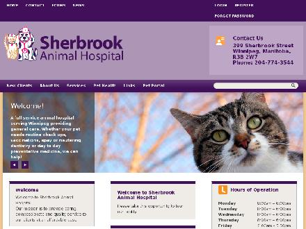 Sherbrook Animal Hospital (204-774-3544) - Website thumbnail - http://www.sherbrookanimalhospital.com
