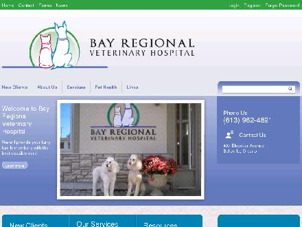 Bay Regional Veterinary Hospital (613-962-4891) - Website thumbnail - http://www.bayregionalvethosp.com
