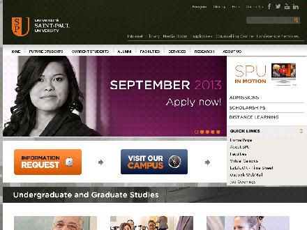 Saint Paul University (613-236-1393) - Onglet de site Web - http://ustpaul.ca