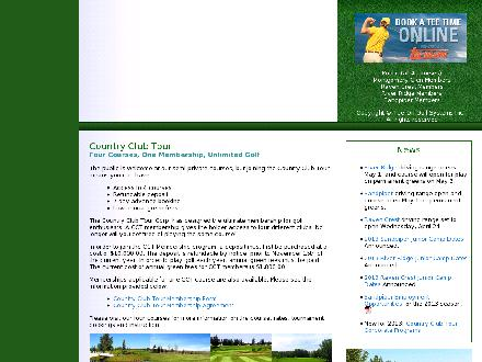 Montgomery Glen Golf & Country Club (780-352-5342) - Onglet de site Web - http://www.countryclubtour.com