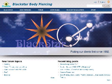 Blackstar Body Piercing (613-549-0951) - Website thumbnail - http://www.blackstar.ca