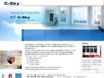 C-Sky Windows Ltd (604-759-2759) - Onglet de site Web - http://www.csky.ca