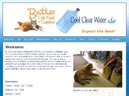 Buddy's Pet Food & Supplies (250-398-2665) - Onglet de site Web - http://www.coolclearwater.ca