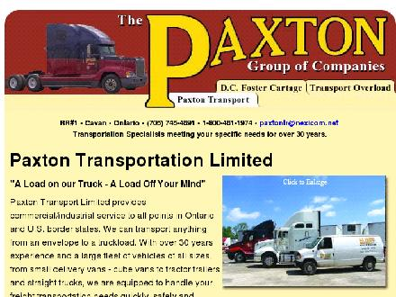 Transport Overload (705-745-4691) - Website thumbnail - http://www.paxtontransport.com