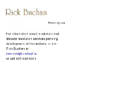 Buchan Richard A (867-668-5611) - Website thumbnail - http://www.resolvyt.ca