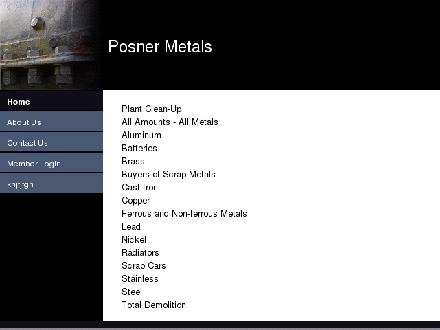 Posner Metals Ltd (1-877-243-7937) - Onglet de site Web - http://www.posnermetals.ca
