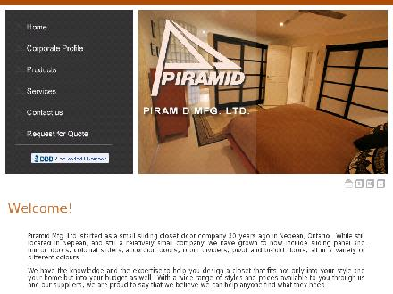 Piramid Mfg Ltd (613-225-1501) - Website thumbnail - http://www.piramidmfg.com