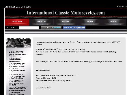 International Classic Motorcycles (250-248-2200) - Website thumbnail - http://www.internationalclassicmotorcycles.com