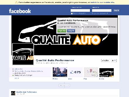 Qualité Auto (418-844-8000) - Onglet de site Web - http://www.facebook.com/pages/Qualit%C3%A9-Auto-Performance/178111318907626