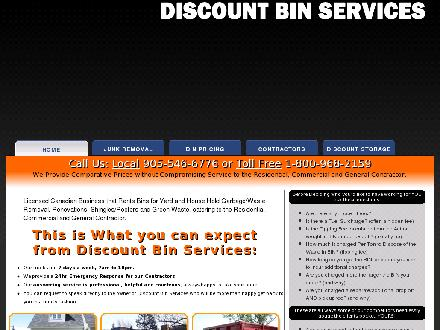 Discount Bin Services (905-546-6776) - Website thumbnail - http://www.discountbinservices.ca